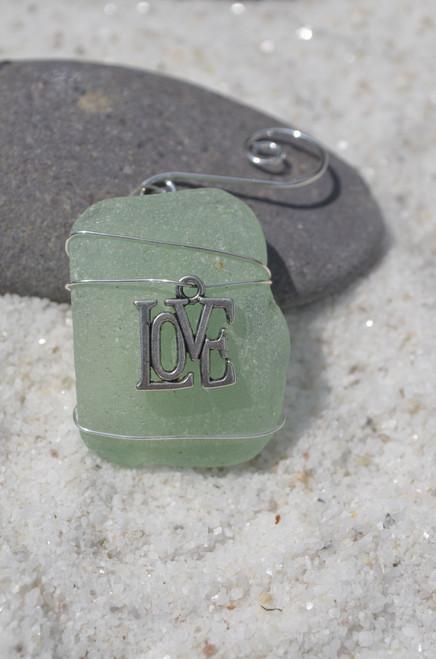Love Sea Glass Ornament
