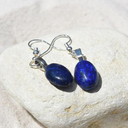 Lapis Lazuli Cabachon Earrings