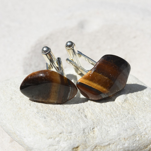 Gold Tiger's Eye Cufflinks