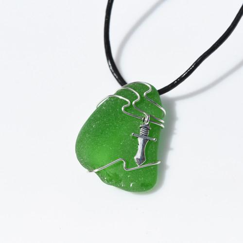 Dagger Sea Glass Necklace