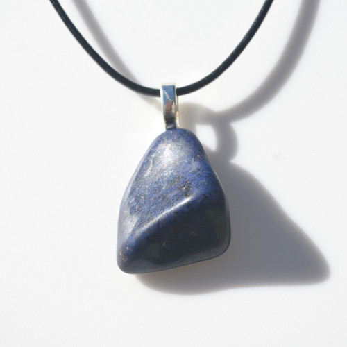 Tumbled Dumortierite Stone Necklace
