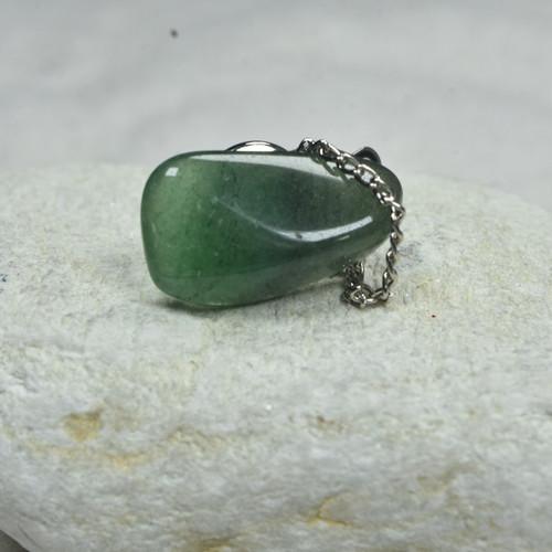 Green Aventurine Stone Tie Tack