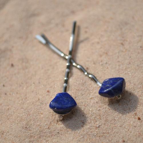 Lapis Lazuli Stone Hair Pins