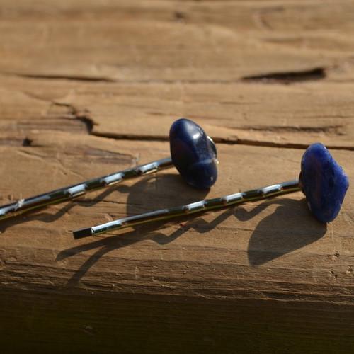 Sodalite Stone Hair Pins