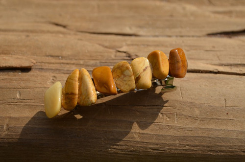 Yellow Jasper Stones French Barrette