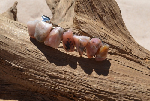 Pink Opal Stones French Barrette