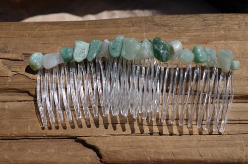 Green Aventurine Stone Hair Combs