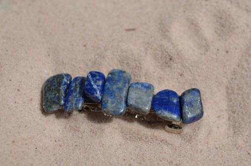 Lapis Lazuli Stone French Barrette