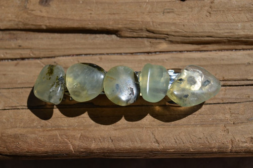 Prehnite Stone French Barrette