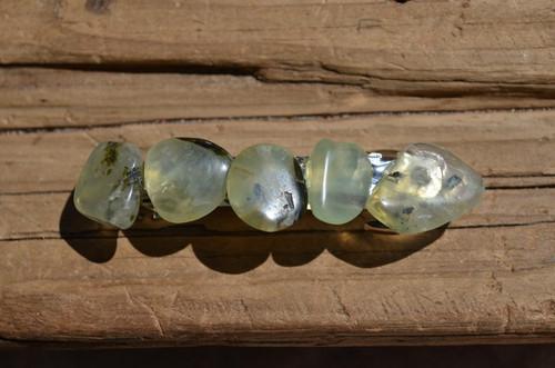 Prehnite Stone French Barrette