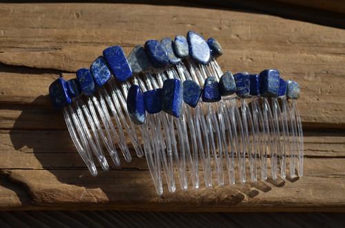 Lapis Lazuli Stone Hair Combs