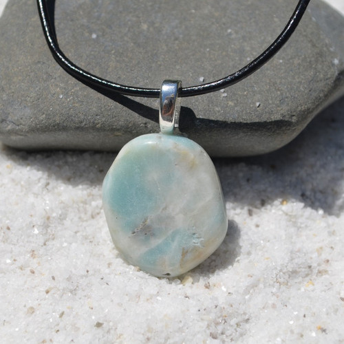 Amazonite Palm Stone Necklace