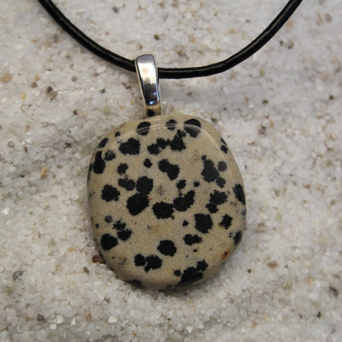 Dalmatian Palm Stone Necklace