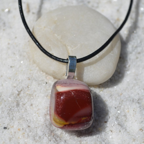 Mookaite Jasper Stone Necklace