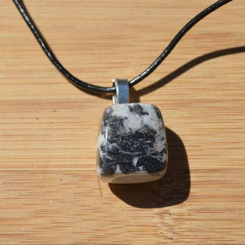 Marble Zebra Jasper Stone Necklace