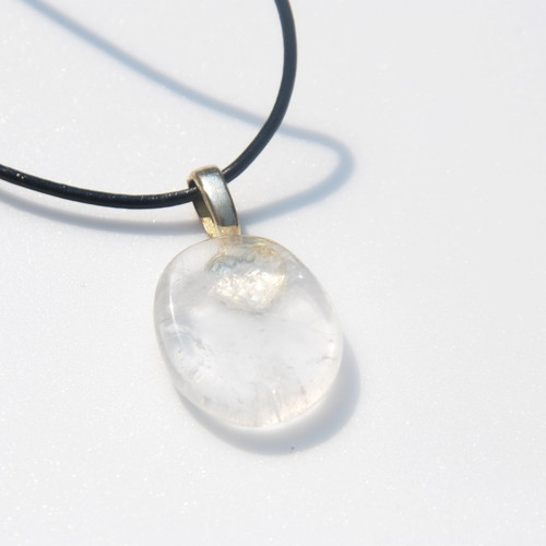Smokey Quartz  Palm Stone Necklace
