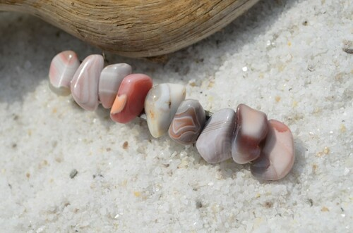 Pink Botswana Agate  Stone French Barrette Hair Clip
