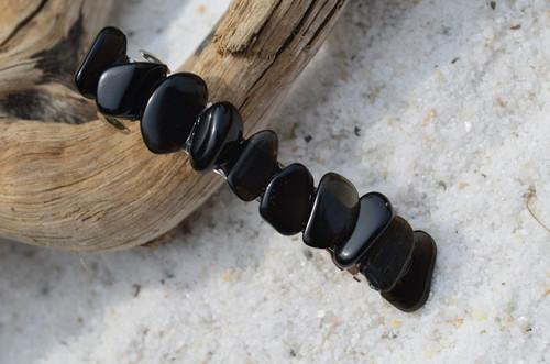 Apache Tears Stone French Barrette Hair Clip