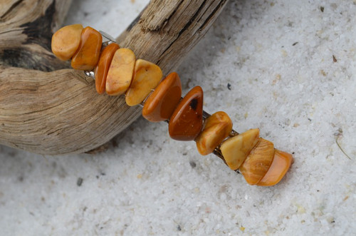 Yellow Jasper Stone French Barrette Hair Clip