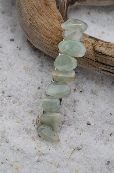 Prehnite Stone French Barrette Hair Clip