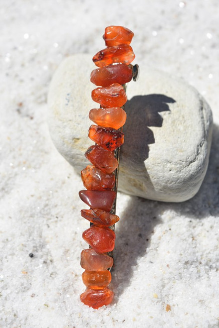 Carnelian Stone French Barrette Hair Clip