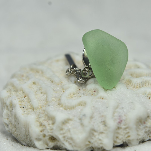 Aqua Sea Glass Tie Tack