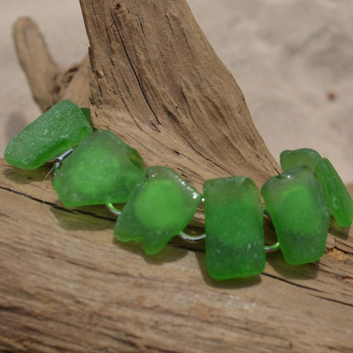 Green Sea Glass Bracelet