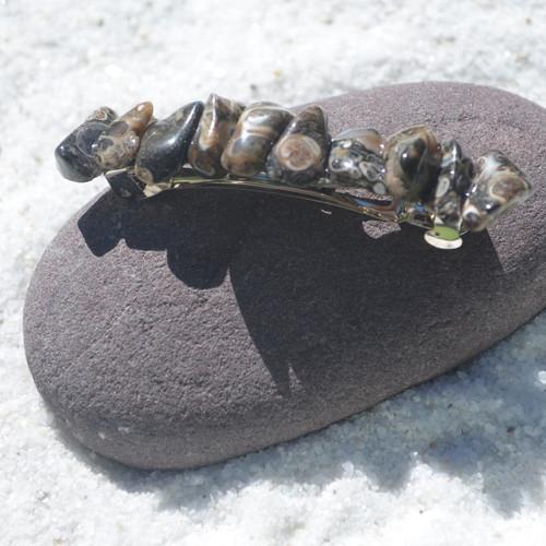 Turritella Stone French Barrette