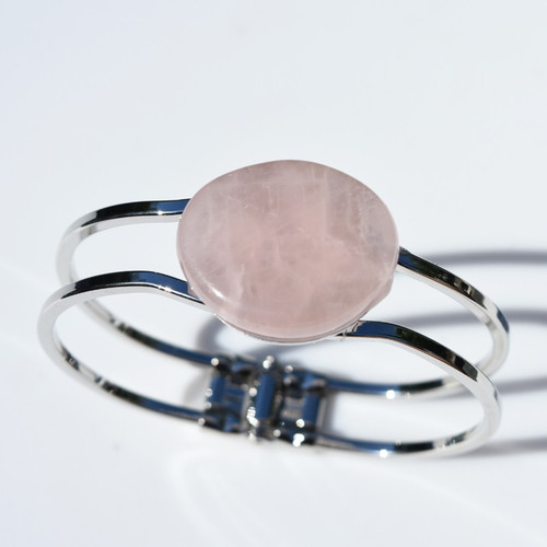 Rose Quartz Palm Stone Bracelet