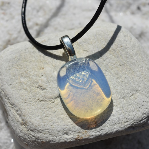 Opalite Palm Stone Necklace