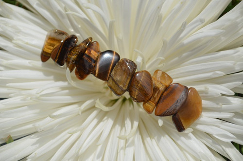 Gold Tiger's Eye Stone French Barrette