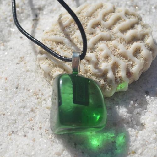 Green Obsidian Pendant