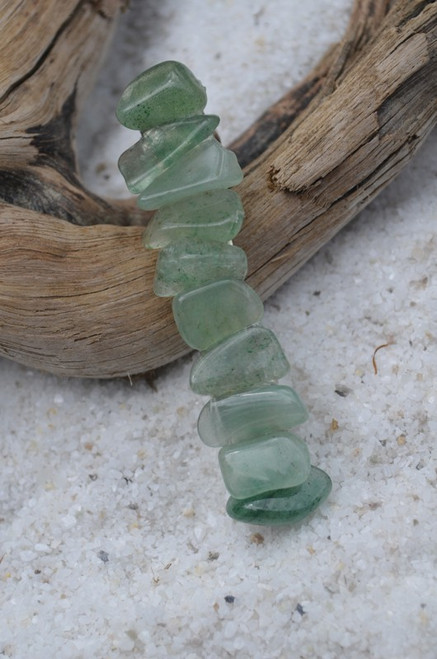 Green Aventurine Stone French Barrette - 60 mm