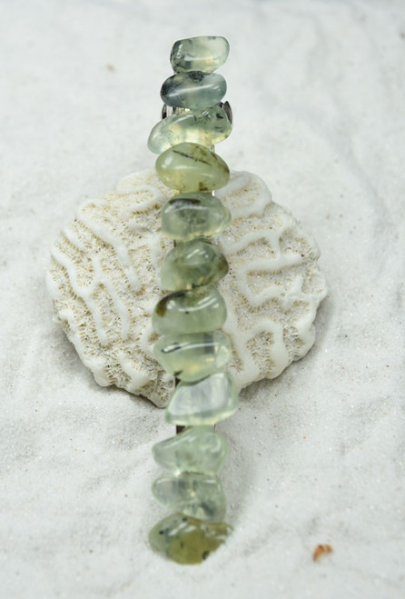 Prehnite with Epidote Stone French Barrette