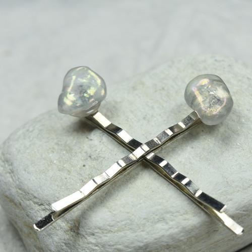 Moonstone Hair Pins