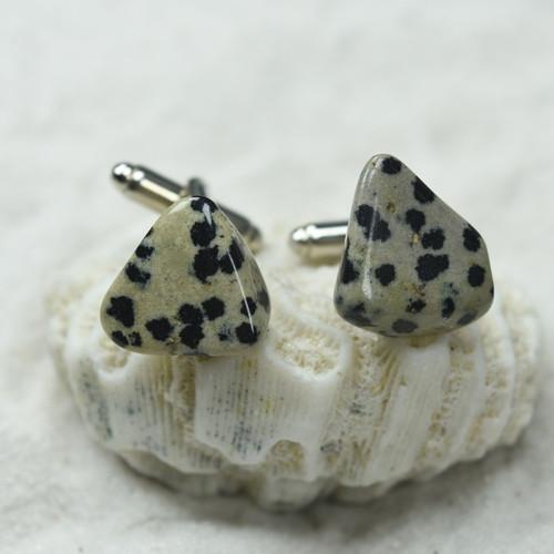 Dalmatian Jasper Stone Cufflinks