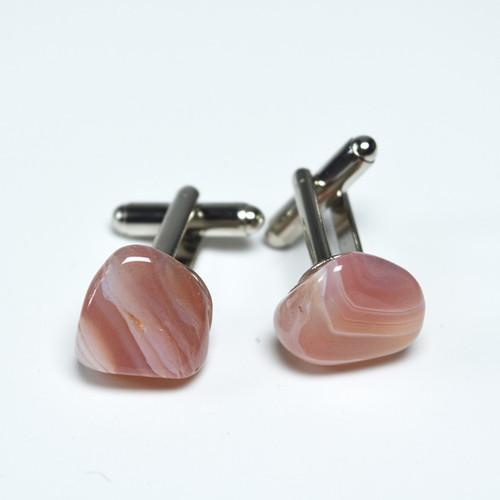 Apricot Agate Stone Cufflinks