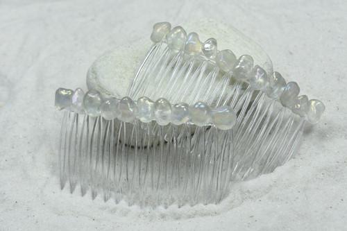 Moonstone Hair Combs