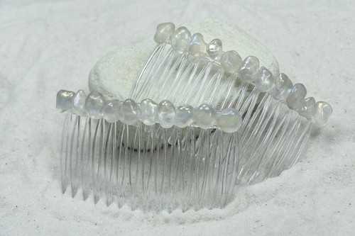 Moonstone Hair Combs