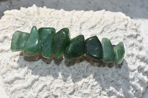 Green Quartz Stone French Barrette