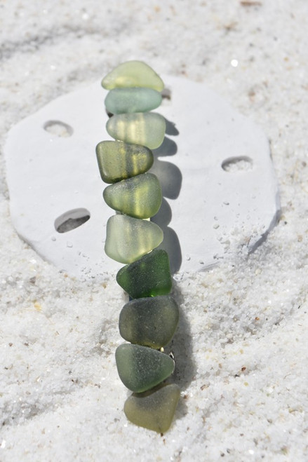 Earth Tones Sea Glass French Barrette