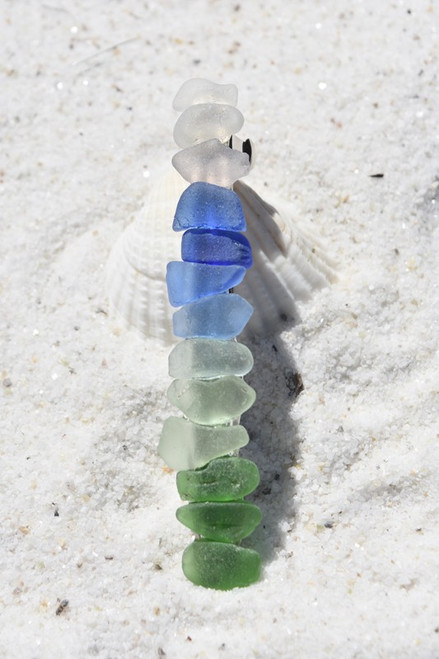 Rainbow Sea Glass French Barrette