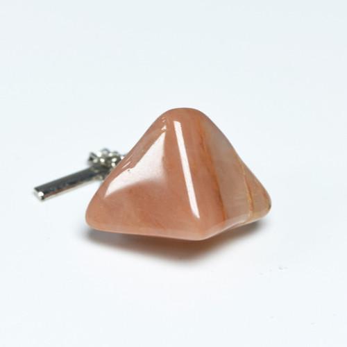 Peach Quartz Stone Tie Tack