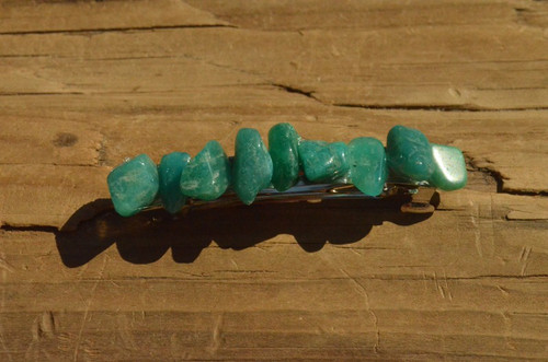 Amazonite Stone French Barrette
