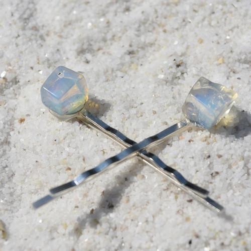 Opalite Stone Hair Pins