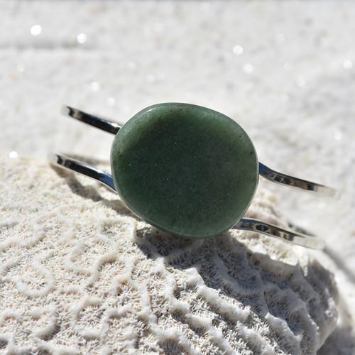 Green Aventurine Palm Stone Bracelet
