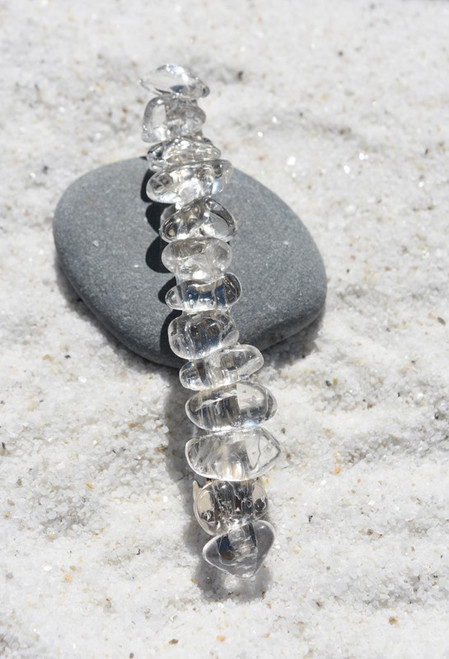 Crystal Quartz Stone French Barrette