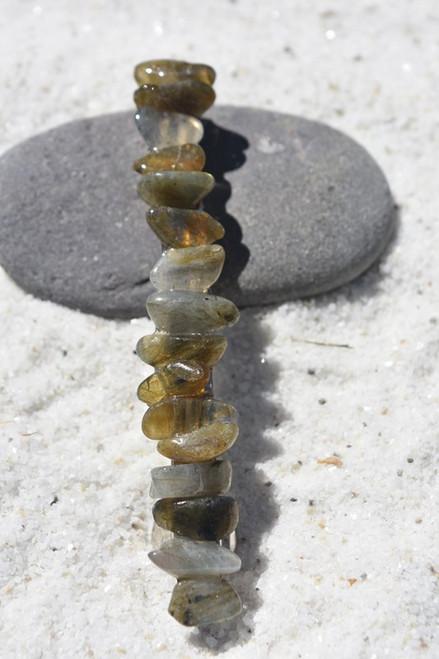 Labradorite Stone French Barrette