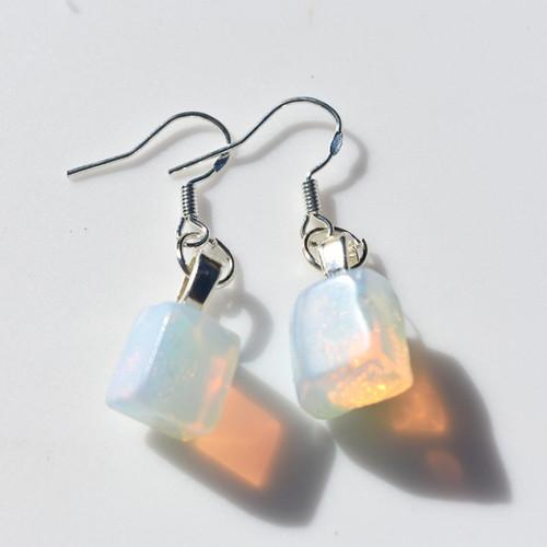 Custom Tumbled Opalite Dangling Earrings - 1 Set