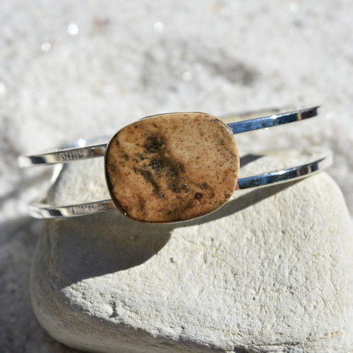 Picture Jasper Palm Stone Bracelet